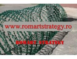 Sarma NATO CONCERTINA spiralata cu lamele verde RAL6005